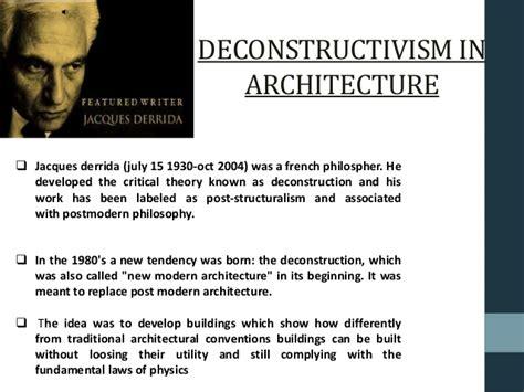 contemporary literary theory pdf deconstructive architecture