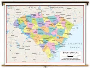 carolina political map south carolina state political classroom map from academia