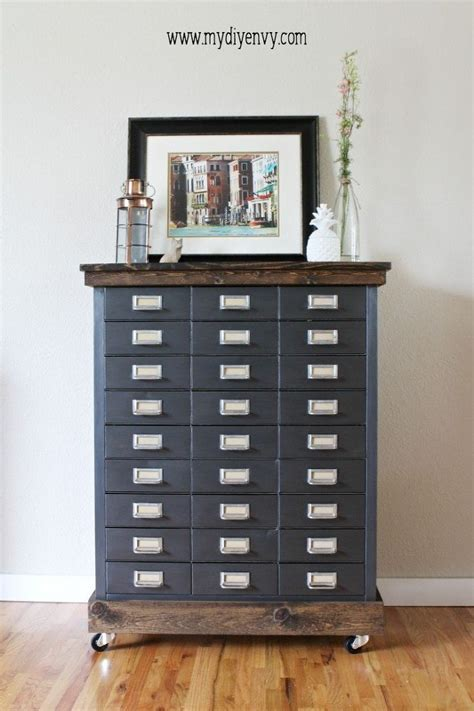 genius ways     filing cabinet painting