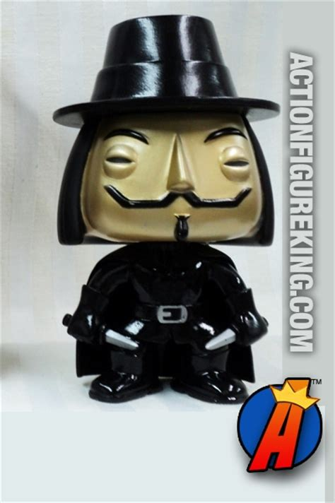 v vendetta bobblehead funko pop comicon exclusive metallic v for
