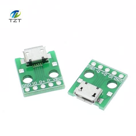 Usb To Dip Adapter Converter 4 Pin For 254mm Pcb Board aliexpress buy 10pcs micro usb to dip adapter 5pin connector b type pcb converter