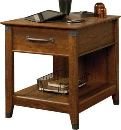 end table with charging station sauder carson forge end table with charging station
