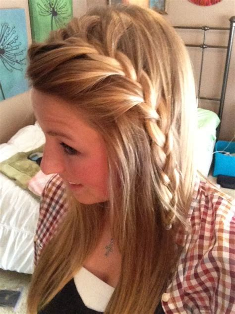 braided bangs pinned up pretty french braided bangs