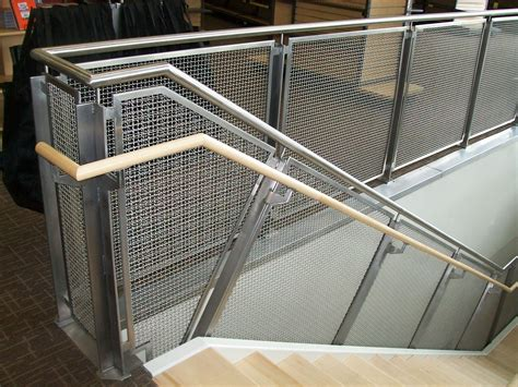 mesh banister guard woven wire metal railings exterior stainless steel mesh