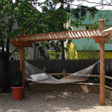 hammock in backyard hammock arbor backyard pinterest
