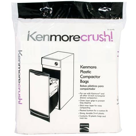 garbage compactor bags kenmore plastic trash compactor bags 10 count free