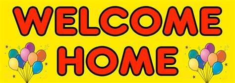 welcome home banner with balloon pictures personalised