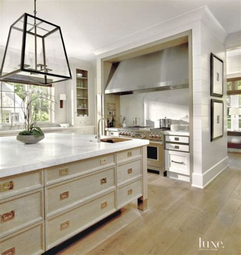 hardware for pickled oak cabinets contemporary white kitchen with geometric chandelier