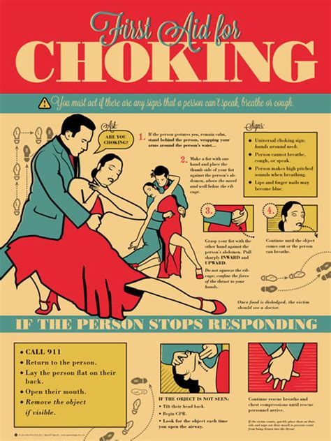 printable choking instructions grey jay first aid for choking victim tango style on behance