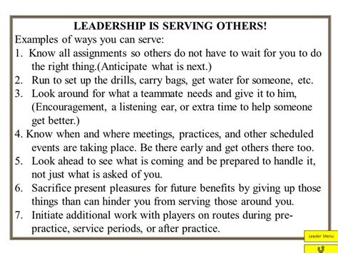 exle of leadership servant leadership from jim zorn coach and coordinator