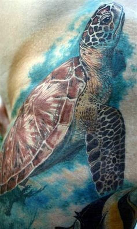 watercolor tattoo turtle realistic watercolor sea turtle tattoos