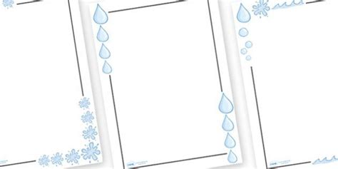 water writing paper water page borders water page border border ks1
