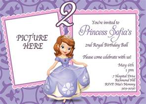 custom photo invitations sofia the birthday invitation