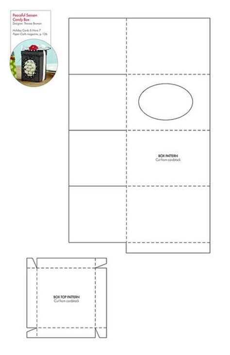 templates for sweet boxes peaceful season candy box free pattern template
