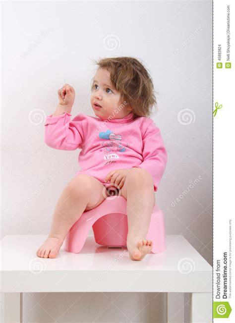 toddler girl potty training potty training stock photo image of little cheerful