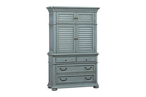 slate blue welcome home armoire havertys my own