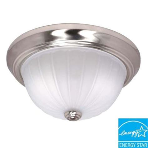 home depot interior light fixtures glomar 3 light flush mount brushed nickel dome light fixture hd 448 the home depot