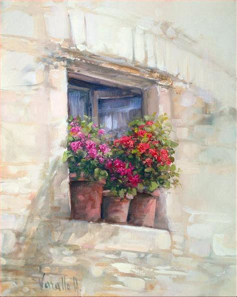 House Plans Online Free window with flowers painting by antonietta varallo