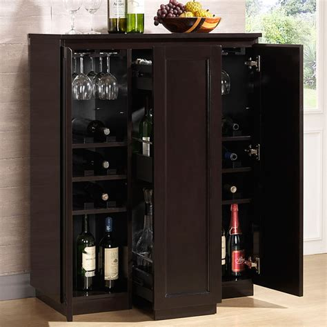 Vertical Bar Cabinet Baltimore Wooden Bar Cabinet Wenge Sliding Vertical Storage Dcg Stores