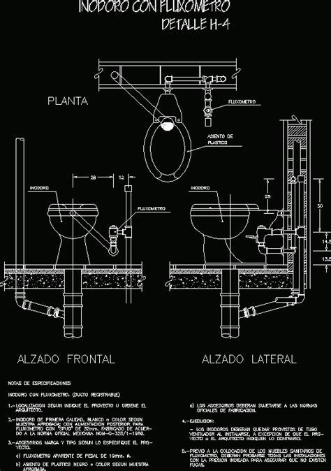 toilet  flushometer dwg detail  autocad designs cad