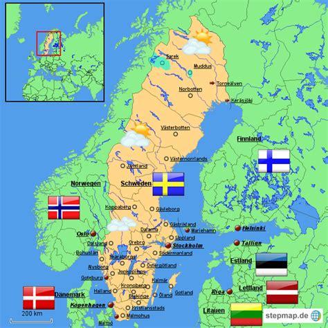 deutschland schweden schweden karte uw0ntgu3ss landkarte f 252 r schweden