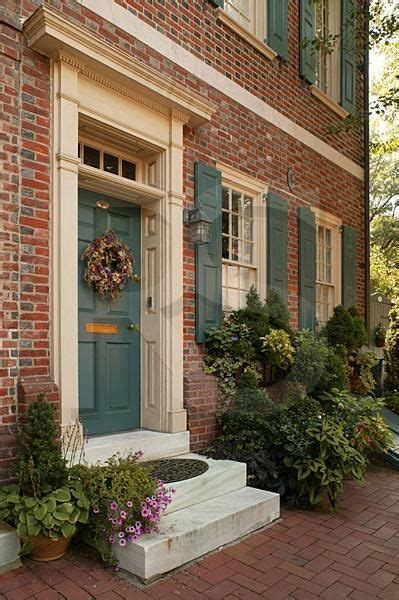 Green Door Properties by Society Hill Residence Beautiful Front Porch Beautiful Front Doors And