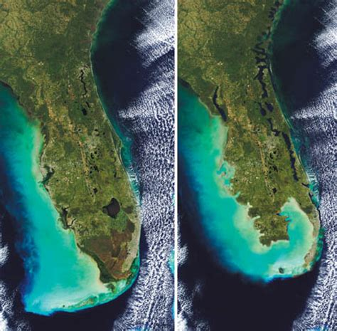 how fast is florida sinking phillip s florida most at risk from sea