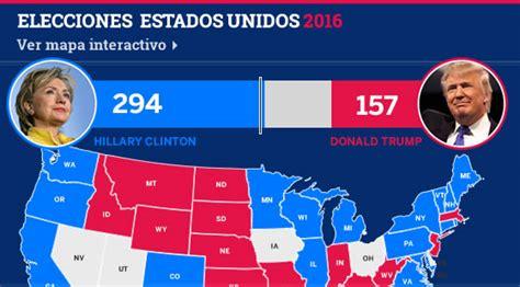 mapaor de elecciones usa 2016 mapa electoral por estado en las elecciones eeuu 2016 con