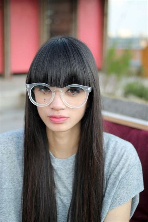 bangs on girls with sunglasses 19 best clear frame glasses images on pinterest glasses