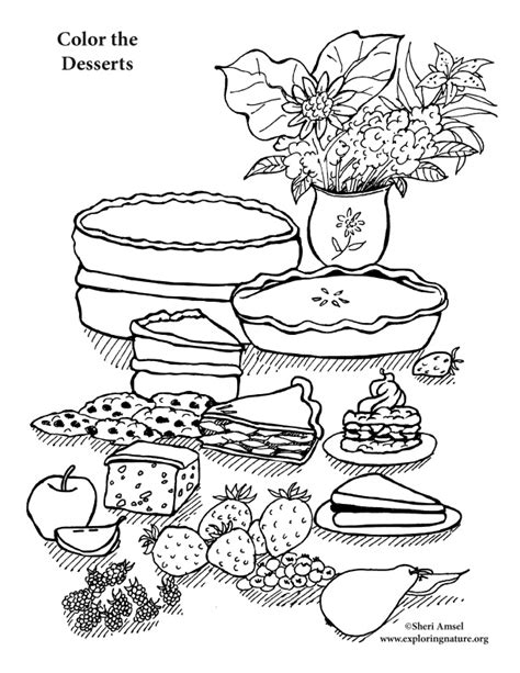 desert coloring pages dessert coloring page