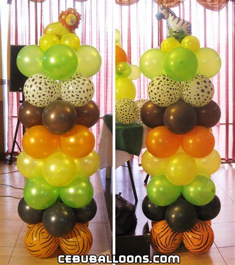 jungle themed balloon decorations safari jungle theme balloon decoration at rainforest
