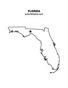 shape of florida on map florida map