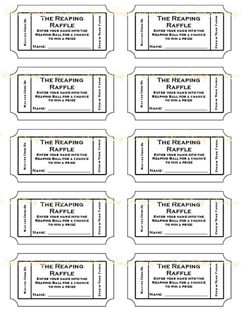 raffle ticket template google search fundraising letters