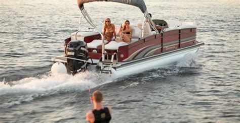 turbo swing elevate your towing with turboswing pontoon deck boat magazine