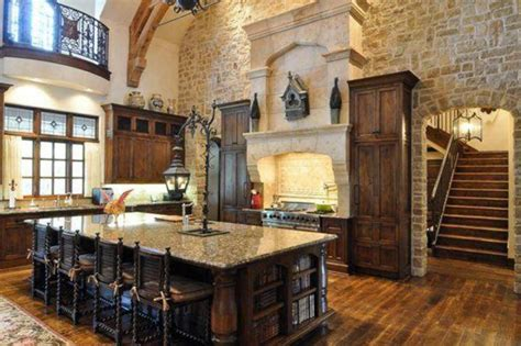 16 Rustic Gourmet Kitchens Homes Of The Rich Large Gourmet Kitchen House Plans