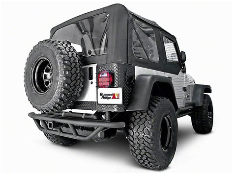 rugged ridge rrc rugged ridge wrangler rrc rear bumper w o tire carrier textured black 11503 11 87 06 wrangler