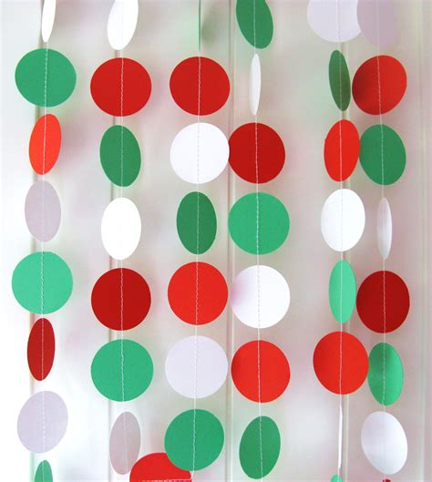 How To Make Paper Bunting Garland - garland paper garland circle approx 10ft