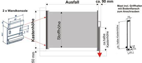Seitenmarkise Am Boden Befestigen montage und richtiges messen sowero seitenmarkise