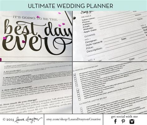 printable wedding planning notebook 93 best images about wedding planner on pinterest