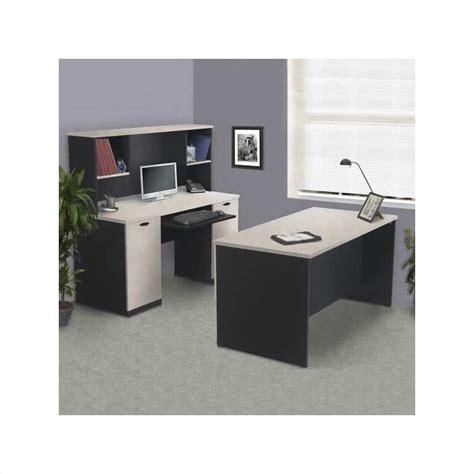 Granite Computer Desk Bestar Hton Home Office Desk Set In Sand Granite Charcoal 69400 Pkg