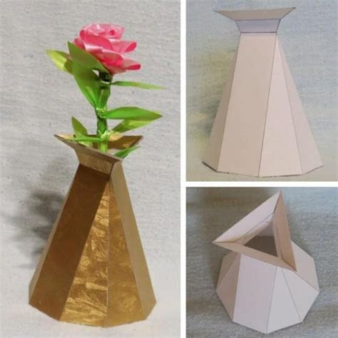 Paper Vase Craft - papermau decorative vase paper model and much more by