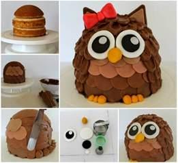 Home Decorating Tips For Beginners wonderful diy cute owl cake