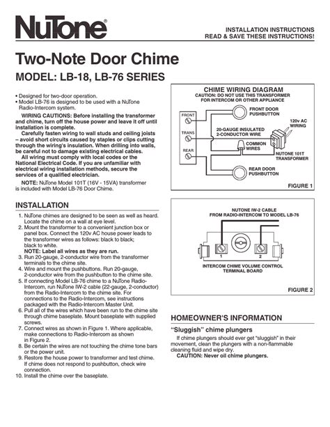 nutone doorbell wiring diagram efcaviation