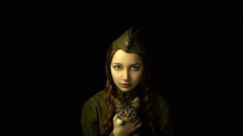girl portrait wallpaper soldier girl portrait hd wallpaper wallpaperfx