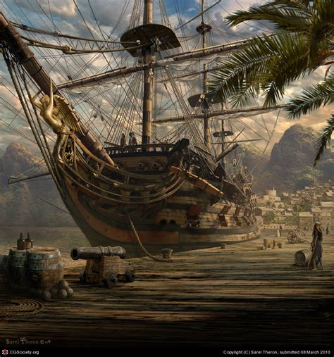 port royal by sarel theron 2d cgsociety