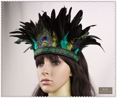 Hiasan Rambut Headpiece 4 fashion accessories hair band indian peacock feather headdress hair headpieces headband for