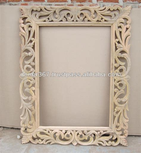 Best Place For Home Decor by Wooden Big Hand Carved Mirror Frame Buy Big Size Wooden