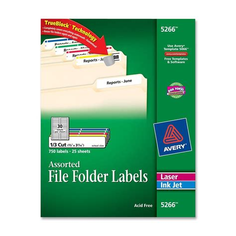 avery file label template avery filing label ld products