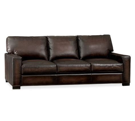 turner leather grand sofa pottery barn hints ideas