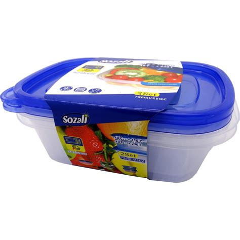 small food storage containers plastic small medium large size clip handle plastic clear food